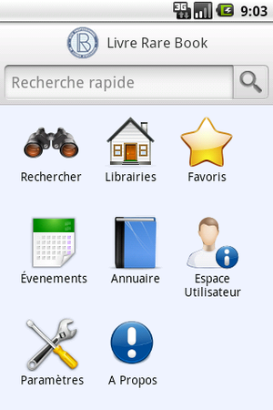 Android Application first screenshot