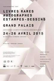Affiche Salon International du Livre Rare et de l'Autographe au GRAND PALAIS