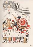 Voyageur immobile. 33 petits poèmes dont un avec musique. Texte, dessins en couleurs et agréments de Eekman, musique de Mlle Gauthier-Villars.. ...