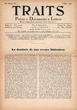 Traits. Poésie, Documents, Lettres. Revue indépendante paraissant douze fois par ans. IIIe année, n° 7, juillet 1943.. [Revue - Résistance] - ...