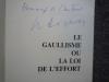 Le gaullisme ou la loi de l'effort.. PAPON Maurice