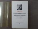 Oeuvres romanesques. Dialogues des Carmélites.. BERNANOS Georges