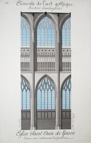 Bonnet j architecture gothique livre rare book for Fenetre gothique