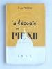 """""""A l'écoute"""" de Pie XII [ Avec envoi de l'auteur ]. PROTAT, Jean"""