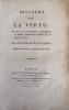 Discours sur la vertu, prononcé à l'Académie des sciences et belles-lettres de Berlin, le 25 janvier 1797.. BOUFFLERS (Stanislas-Jean, Chevalier de)