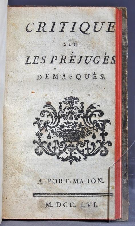 Mémoires d'un frivolite. Par l'auteur ambulant. 1762 [relié avec] La disgrâces des amans, nouvelle historique. 1707 [relié avec] Critique sur les préjugés démasqués. 1756 [relié avec] Relation de la maladie, de la confession, et de la mort et de l'apparition du jésuite Bertier. [relié avec] Testament de monsieur de Voltaire, trouvé après sa mort dans ses papiers. [relié avec] Relation de la maladie, de la confession, de la fin de M. de Voltaire, et de ce qui s'ensuivit, par moi, Jospeh Dubois.