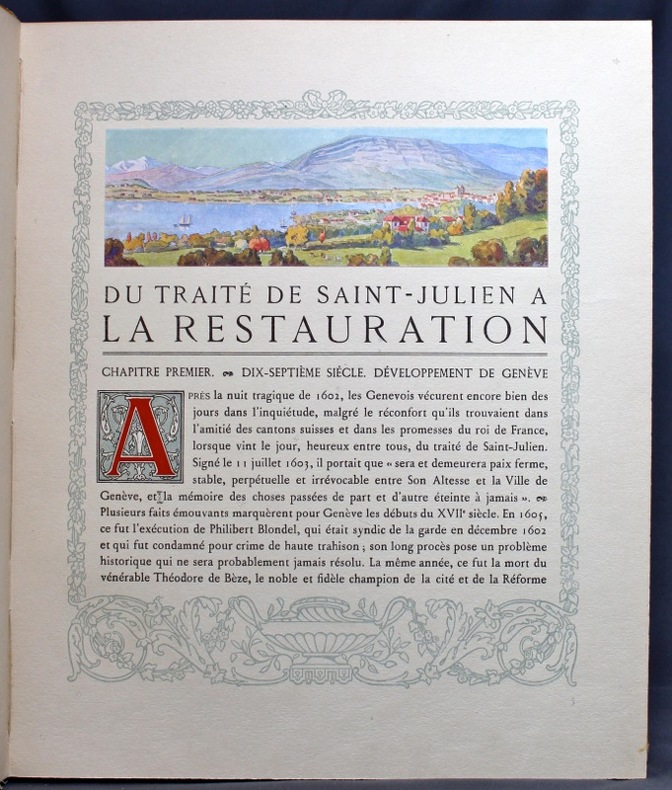 La Restauration genevoise. Du traité de Saint-Julien à la Restauration 1603-1816.