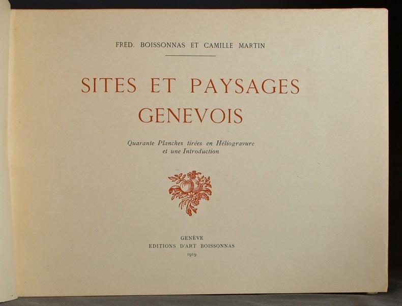Sites et paysages genevois.