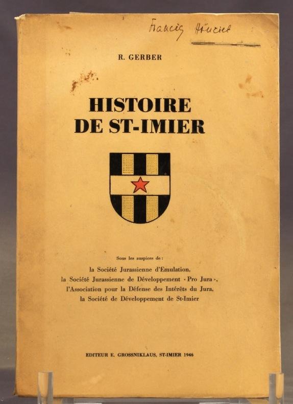 Histoire de St-Imier.