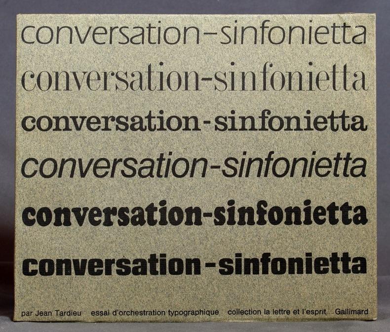 Conversation-sinfonietta. Essai d'orchestration typographique par Massin réalisé avec la collaboration du studio Hollenstein.