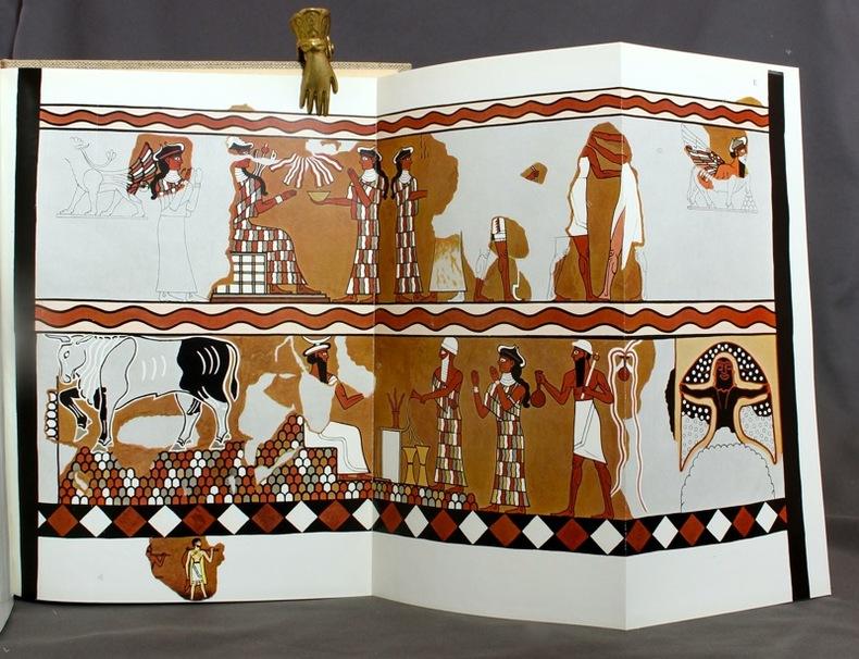 Mission Archeologique de Mari, volume II. Le Palais. I: Architecture - II: Peintures murales - III: Documents et monuments.