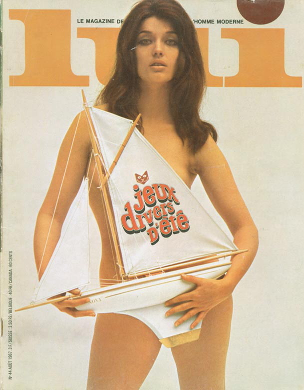 Centre Page pin up. Page Count 106. Lui Magazine 44 August 1967
