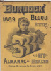 Burdock 1889 Blood Bitters Almanac and Key to Health.. FOSTER  MILBURN (manufacturers).