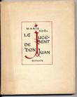 Le Jugement de Don Juan. Miracle.. NOËL (Marie)  -  / DAVID Hermine/.