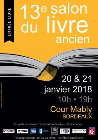 visuel 13 e SalonLivre ancien Bordeaux 20-21 janvier 2018