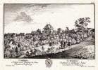 Corbers Schloss und Vogtey in dem Canton Freyburg / Corbières. Château et Balliage dans le Canton de Fribourg.. HERRLIBERGER, David sc. d'après ...