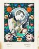 Imagerie populaire, image d'Epinal. - Saint François Xavier / Heilige Franziskus Xaverius. Saint Aloyse [Louis] de Gonzague / Heilige Aloysius von ...