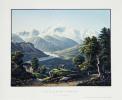 Vue de la Vallée de Salenche et du Montblanc.. STRAUB, dess. / RUF, gravé par: