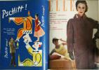 Elle. Magazine de mode. N° 499 - N° 511 - Juillet 1955..