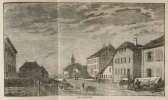 Le véritable Messager boiteux (Almanach historique) de Neuchâtel pour l'an de grace 1856. (Avec vue 'Les Verrières'). .