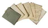 Carnet manuscrit sur papier bleu/gris et blanc lors de ses etudes an Allemagne. 'Ls. Agassiz  'Arithmétique' - Geometrie - Mathématik.. AGASSIZ, L. ...
