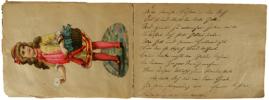 Glanzbilder (scraps). - Freundschaftsalbum der Alma Eschbach aus der 2. Klasse in Laufenburg AG, Schweiz. Handschrift mit zahlreichen farbigen ...