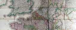 Carte physique, hydrographique, routière et statistique du Royaume de France avec la Division Comparative en Provinces et en Départements comprenant ...