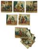 Histoire moraliste sur le vice du jeu. Série de 12 images sur le triste sort d'un homme tombé sous l'emprise du jeu..