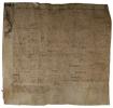 Fribourg. - Parchemin manuscrit de 1546: Quittance pour la vente d'une maison de Morat à une veuve de Bâle.. MURTEN. -