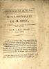 ELOGE HISTORIQUE DE M. BOSC  lue à la séance publique de l'Académie royale des sciences le 15 juin 1829 par M. LE BARON CUVIER. . CUVIER, GEORGES.