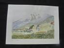 Aquarelle originale de Vaubourg : Tyrol (Autriche). Vaubourg Paul