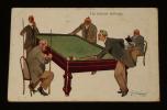 Carte postale ancienne : Un joueur séri-eux. Collectif