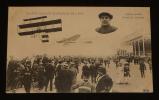 Carte postale ancienne : Grande semaine d'aviation de Lyon - Duray passant devant les tribunes. Collectif