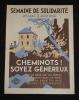 Affiche du Comité National de Solidarité des Cheminots : Semaine de solidarité, 25 mai - 2 juin 1946 : Cheminots ! Soyez généreux. Collectif