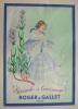 Publicité pour les parfums Roger et Gallet signée J. Duché. Duché J.
