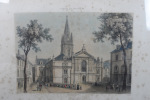 """""""Gravure """"""""St Malo. Cathédrale St Pierre et St Paul"""""""" par Deroy (encadré)"""". Deroy"""