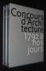 Concours d'architecture, 1792 à nos jours (2 volumes). Collectif