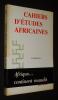 Cahiers d'études africaines (121-122, 1991) : La malédiction. Collectif