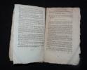 Règlement provisoire sur le service des troupes à cheval en campagne du 12 août 1788. Collectif