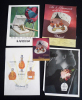 Lot de 5 publicités pour les parfums LUBIN et MOLINARD. Collectif
