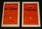 Lot de 2 romans de Daniel Boulanger : La Rue Froide - Le Téméraire (2 volumes). Boulanger Daniel