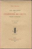 Les origines des chansons de geste, théories et discussions. Siciliano Italo