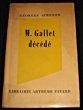 M. Gallet décédée. Simenon Georges