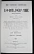 Répertoire général de bio-bibliographie bretonne tome 5. Kerviler René