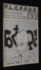 P.L.G.P.P.U.R. Plein La Gueule Pour Pas Un Rond, N°2 (octobre 1978) Spécial Bilal. Collectif, Morin Philippe, Jamet Pierre-Marie