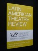 Latin american theatre review 33/2, spring 2000. Collectif