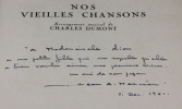 Nos vieilles chansons. Anonyme
