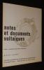 Notes et documents voltaïques, n°6 (3) Avril-Juin 1973. Collectif