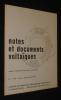 Notes et documents voltaïques, n°4 (4) Juillet-Septembre 1971. Collectif