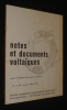 Notes et documents voltaïques, n°4 (2) Janvier-Mars 1971. Collectif